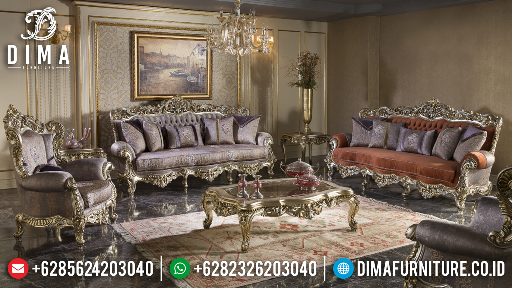 Full Ukiran Klasik Set Sofa Tamu Jepara Mewah Klasik Model Lunema Turkey BT-0009