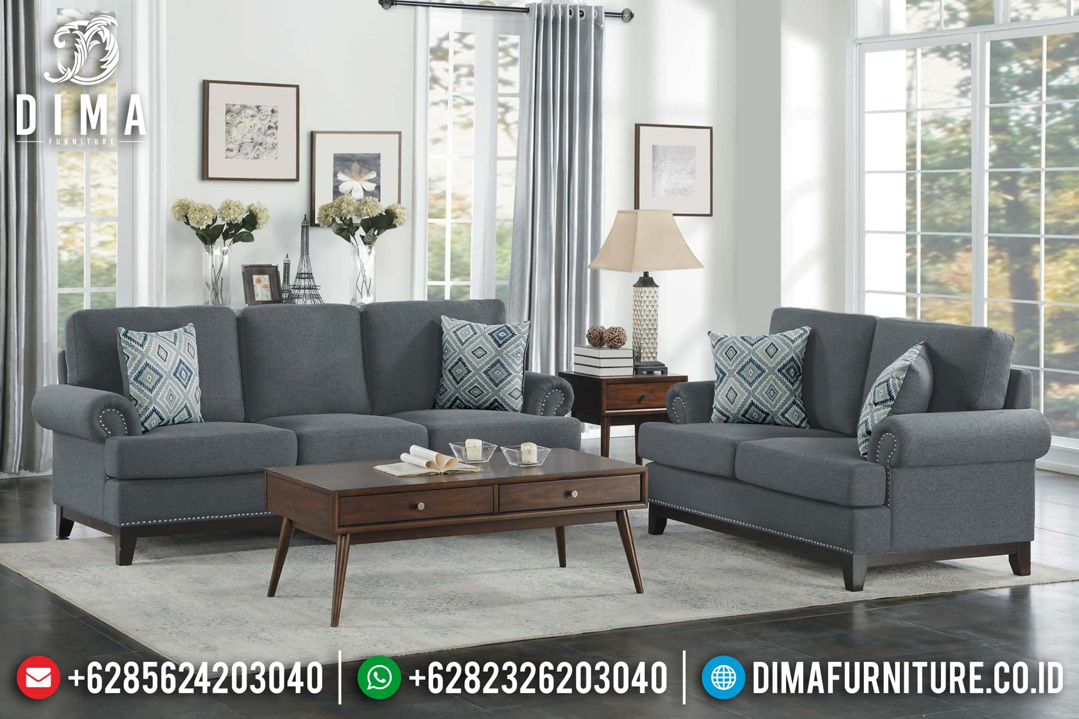 Jual Set Kursi Sofa Tamu Jepara Minimalis Terbaru Retro Vintage BT-0011