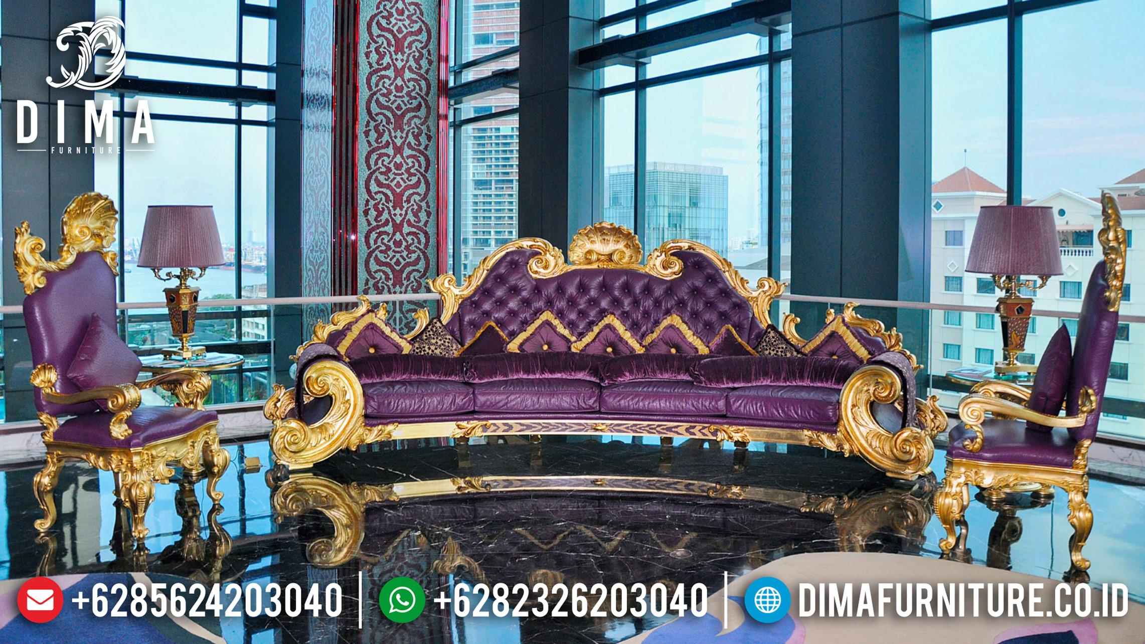 Kursi Sofa Tamu Mewah Jepara Model Jackson Gold Leaf Terbaru BT-0003