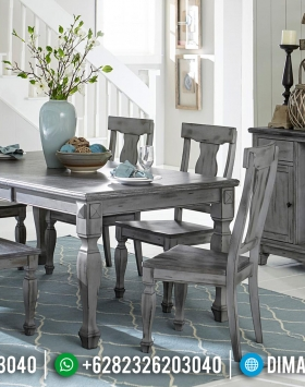 Antique Meja Makan Jepara Minimalis Gray Natural BT-0033