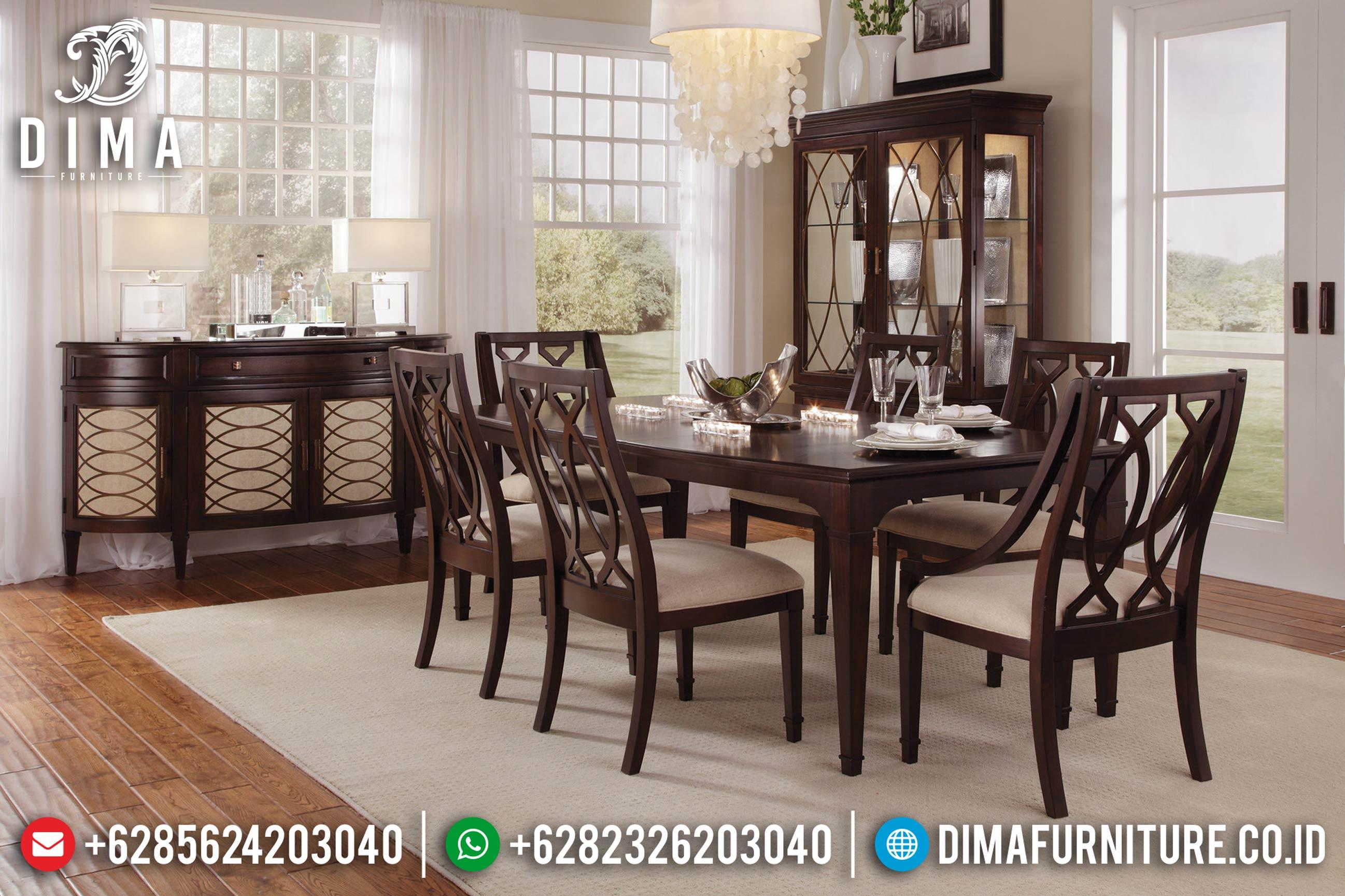 Beli Kursi Dan Meja Makan Jepara Minimalis Natural Jati TPK BT-0021