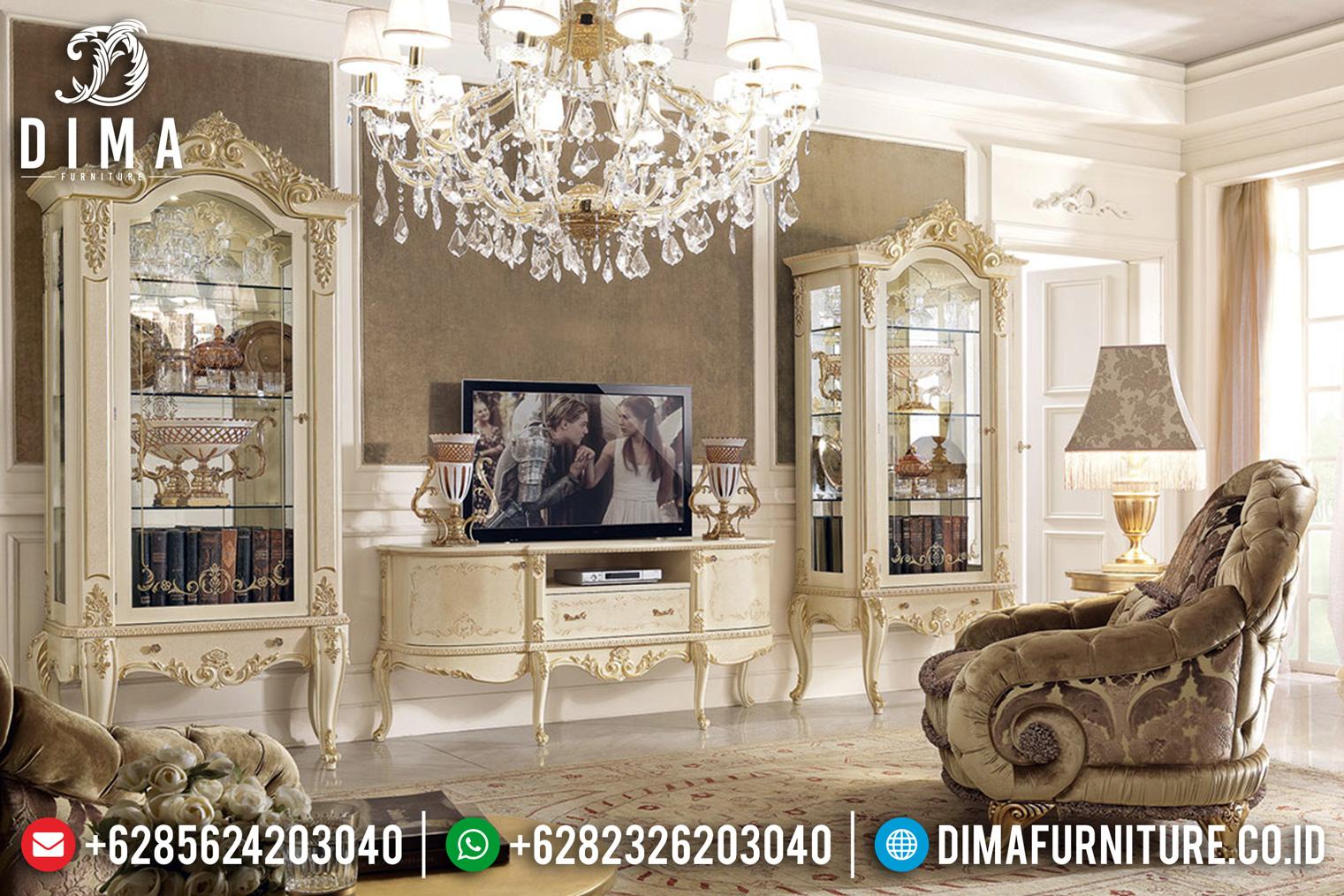 Bufet TV Mewah Jepara Ukiran Klasik Duco BT-0064