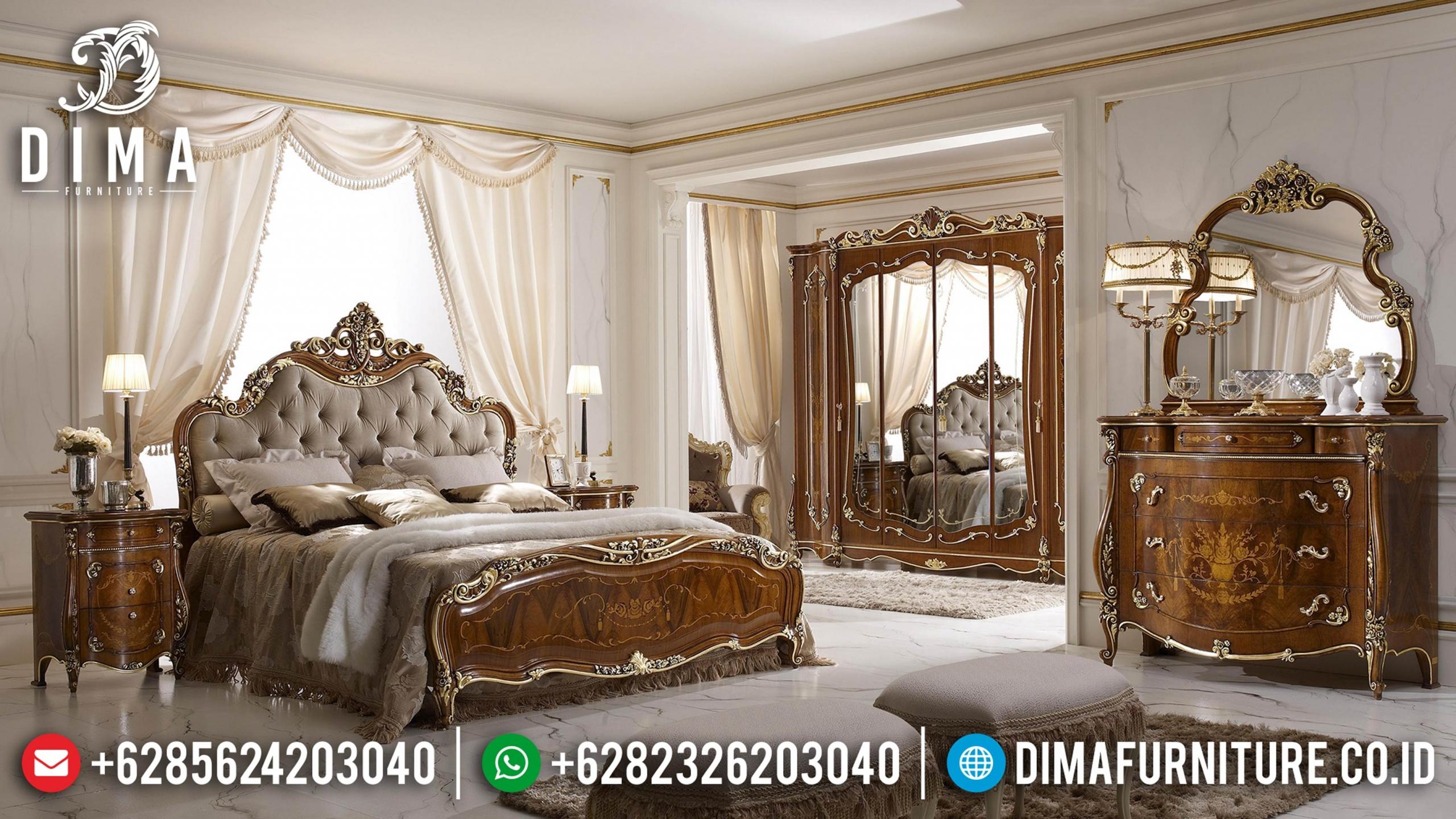 Jual Tempat Tidur Jepara Mewah Ukir Natural Jati BT-0039