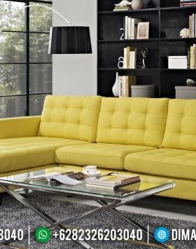 Beli Sofa Tamu Jepara Modern Minimalis Kuning BT-0088