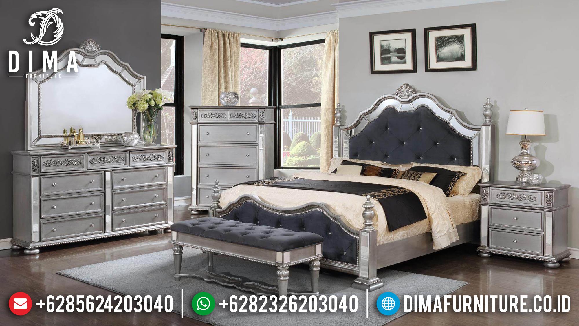 Harga Tempat Tidur Mewah Jepara Modern Kaca BT-0154
