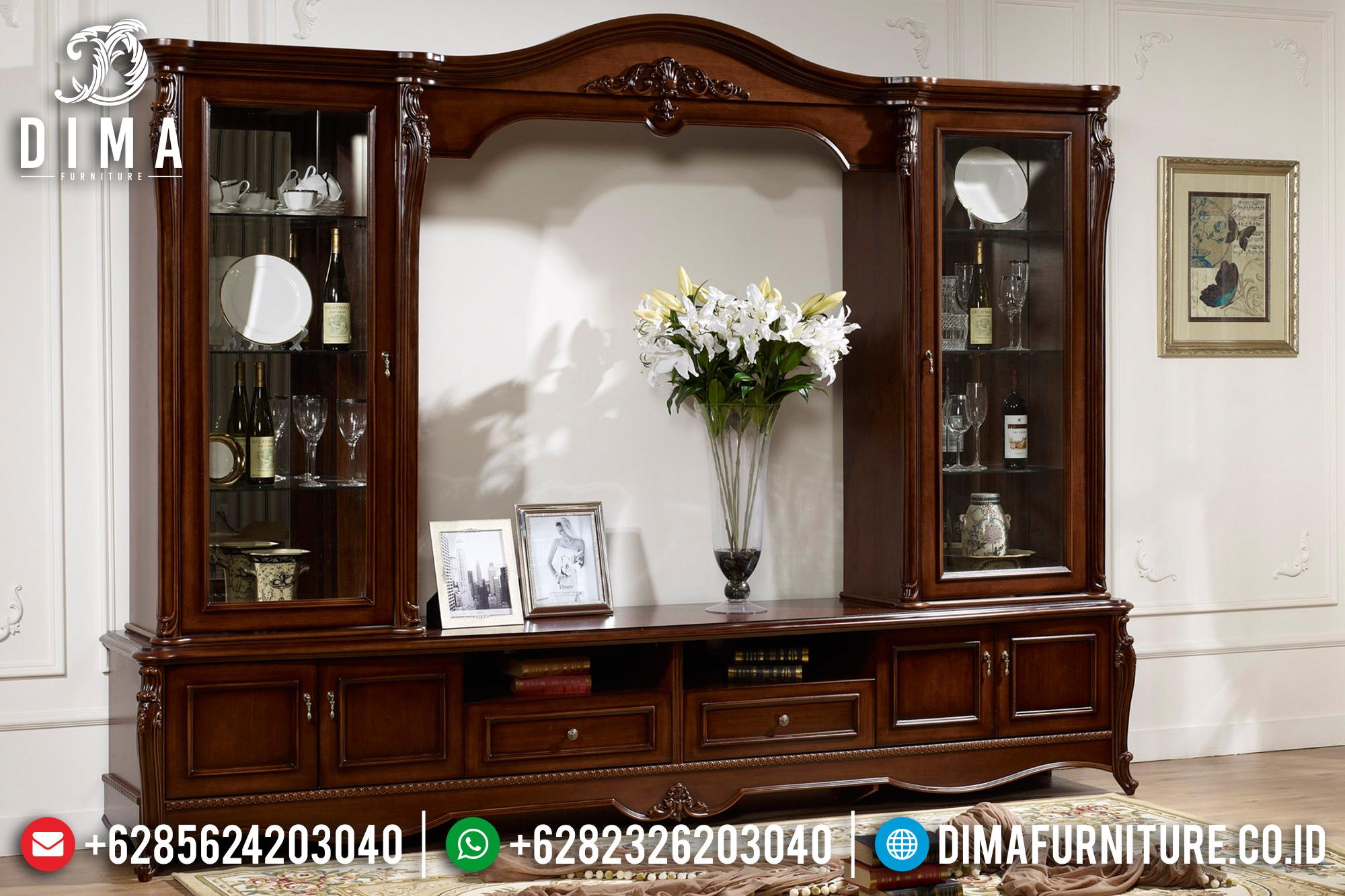 Model Bufet TV Jepara Minimalis Mewah Jati 2019 BT-0114