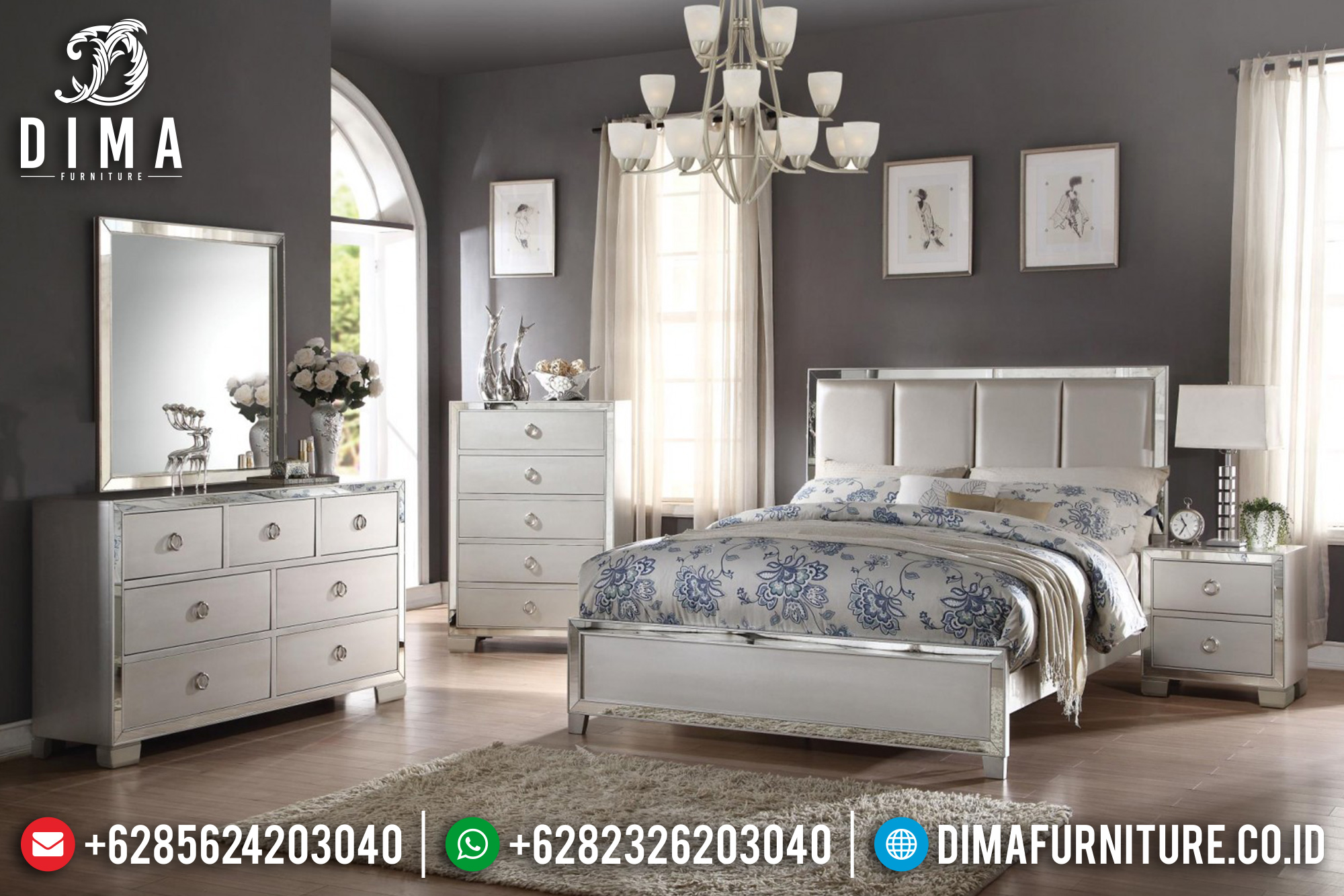 Platinum Tempat Tidur Jepara Minimalis Modern Mirror BT-0160