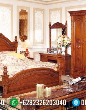 Dipan Tempat Tidur Jepara Ukiran Kerawang Jati TPK BT-0194