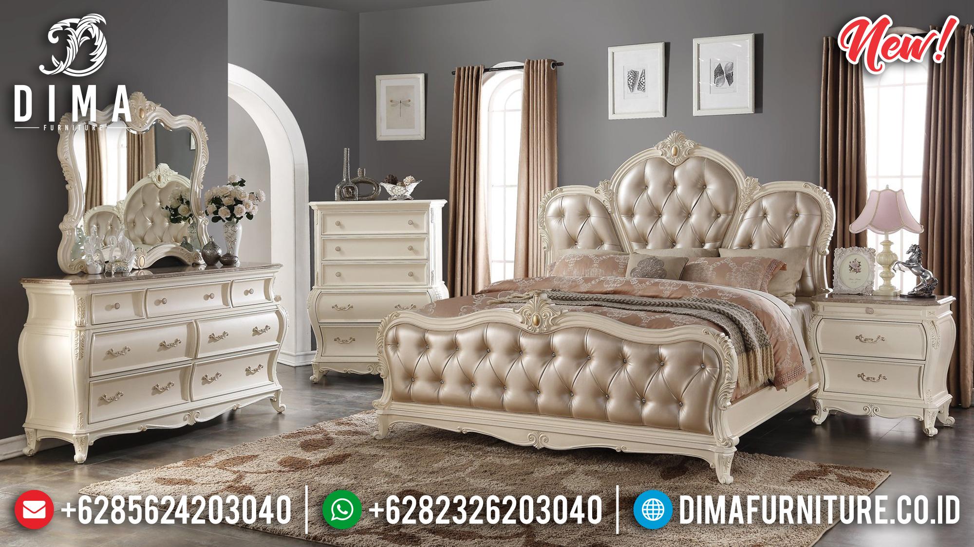 Marquee Set Tempat Tidur Jepara Mewah Broken White BT-0195