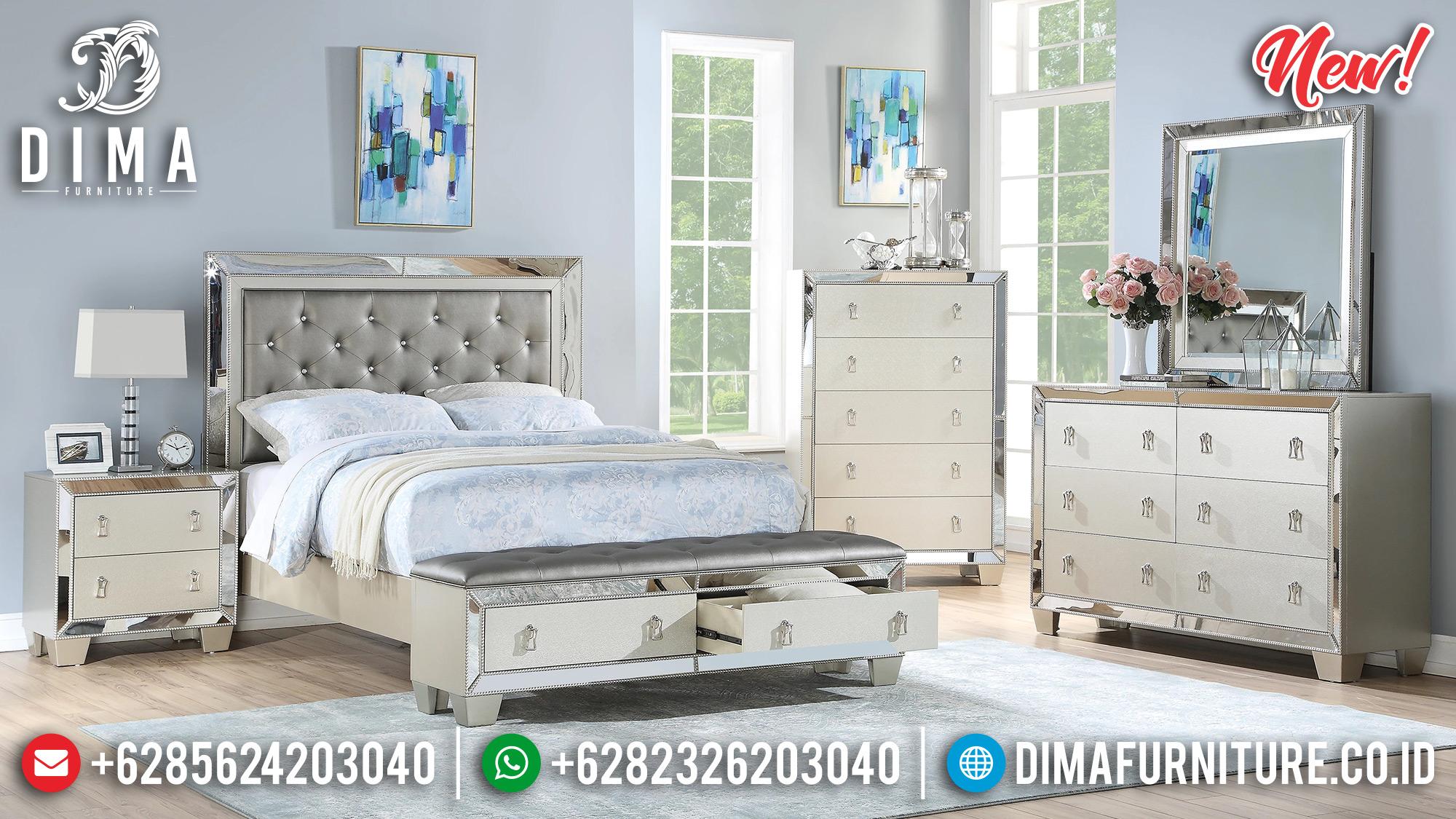 Model Tempat Tidur Minimalis Jepara Cermin Silver Duco BT-0189