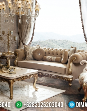 Set 3 2 1 Sofa Tamu Mewah Duco Gold Koltuk BT-0200