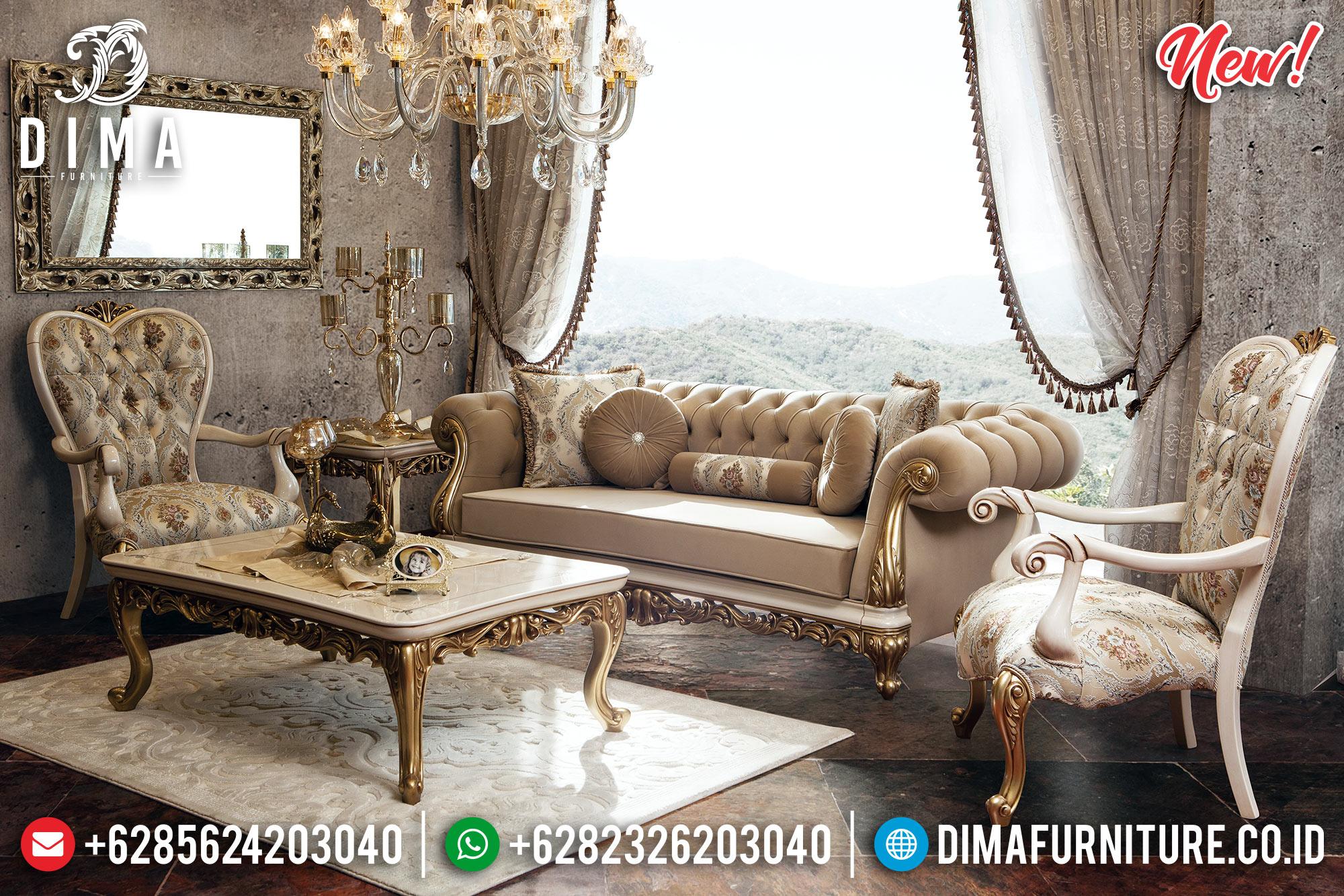 Set 3 2 1 Sofa Tamu Mewah Duco Gold Koltuk BT-0200