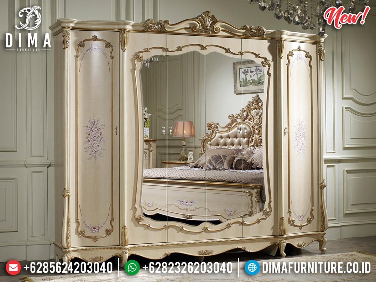 Desain Mewah Lemari Pakaian Luxury Classic Golden Combination BT-0288
