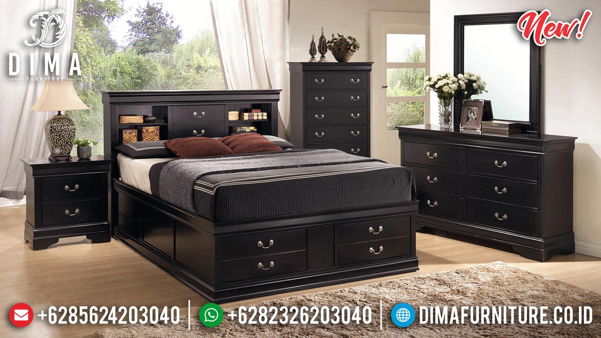 Mebel Jepara Terbaru Kamar Set Modern Minimalis Drawers Style BT-0228