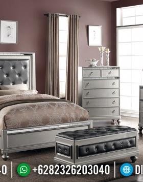 Model Tempat Tidur Modern Minimalis Mewah Pearl Silver BT-0229