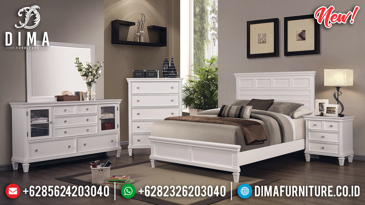 New Kamar Set Minimalis Warna Putih Duco BT-0227