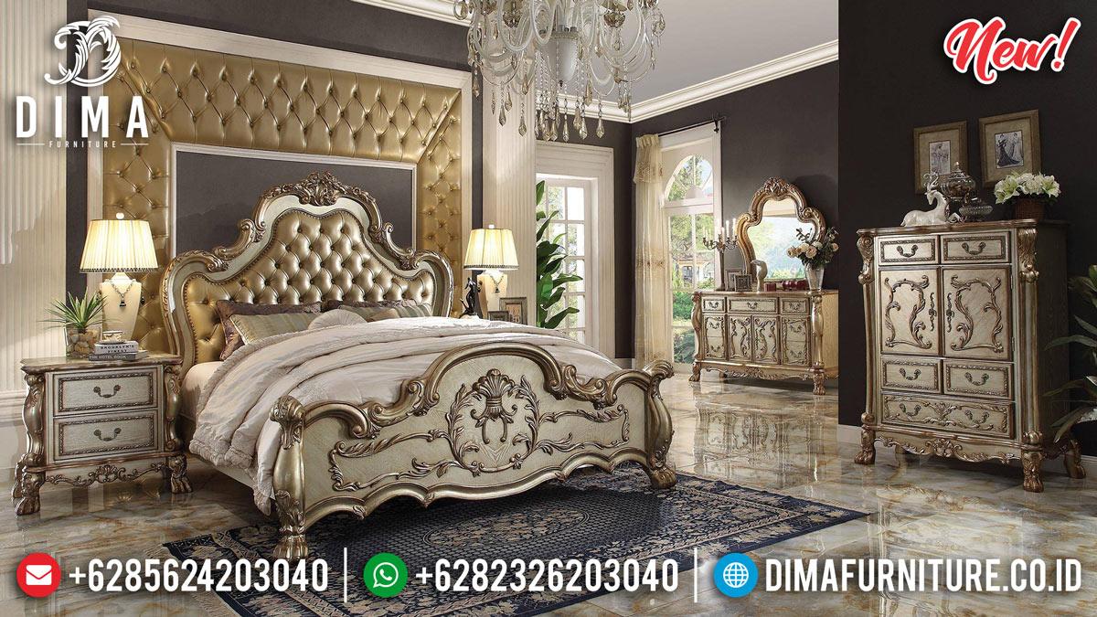 New Ukiran Jepara Kamar Set Mewah Golden Gloss BT-0213