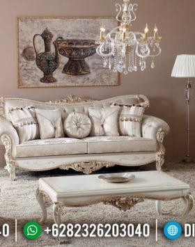 Set Sofa Tamu Mewah Jepara White Duco Combination BT-0282