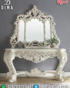 Terbaru Set Mirror Meja Konsol Mewah Full Ukiran Classic BT-0296