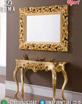 Desain Meja Konsol Mewah Dan Cermin Dinding Furniture Jepara BT-0311