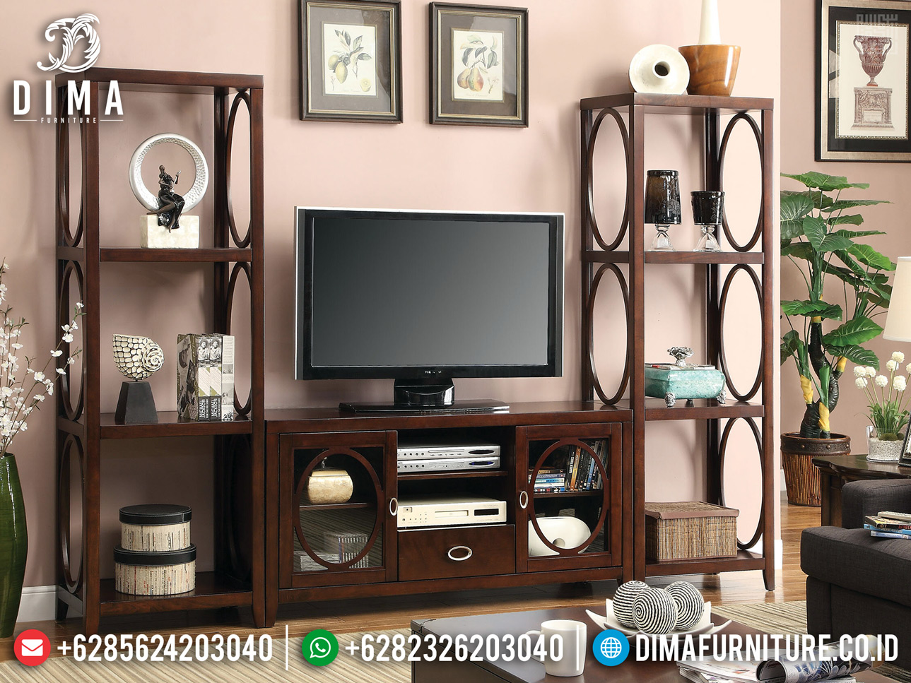 Free Ongkir! Bufet TV Jati Natural Modern Minimalis Jepara BT-0350