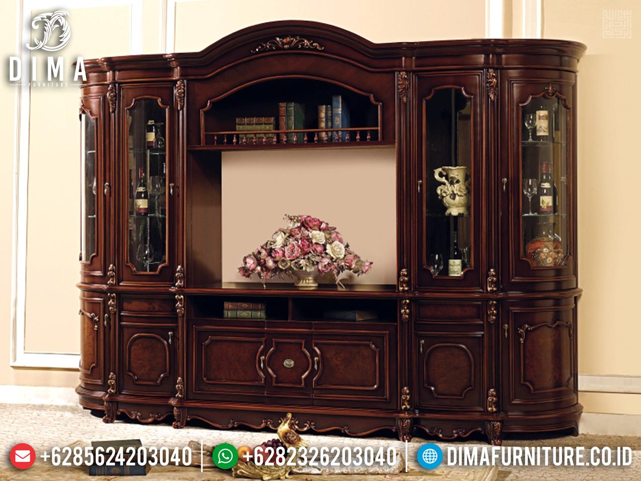 Harga Discount!!! Bufet TV Mewah Jati Natural Ukiran Jepara BT-0345