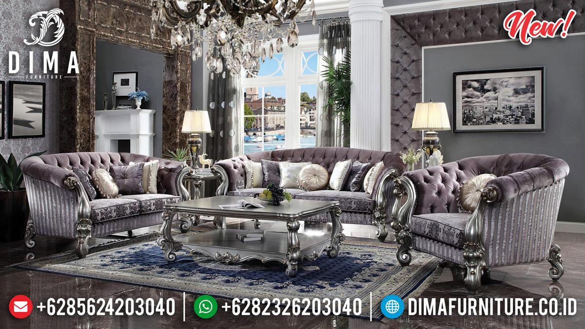 Jual Sofa Tamu Mewah Sylvester Silver Duco Glossy BT-0362
