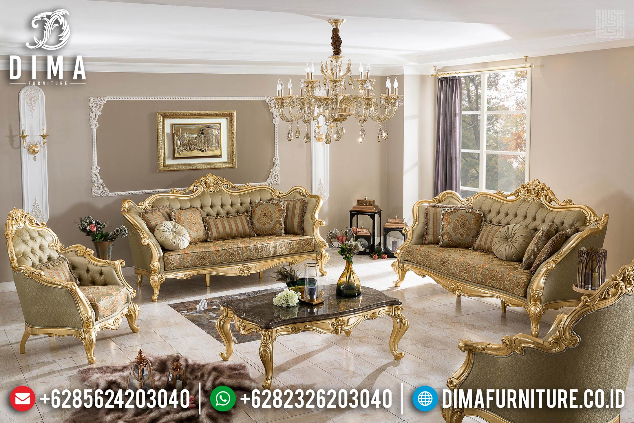 Model Sofa Tamu Mewah Furniture Jepara Golden Luxury New 2020 BT-0370