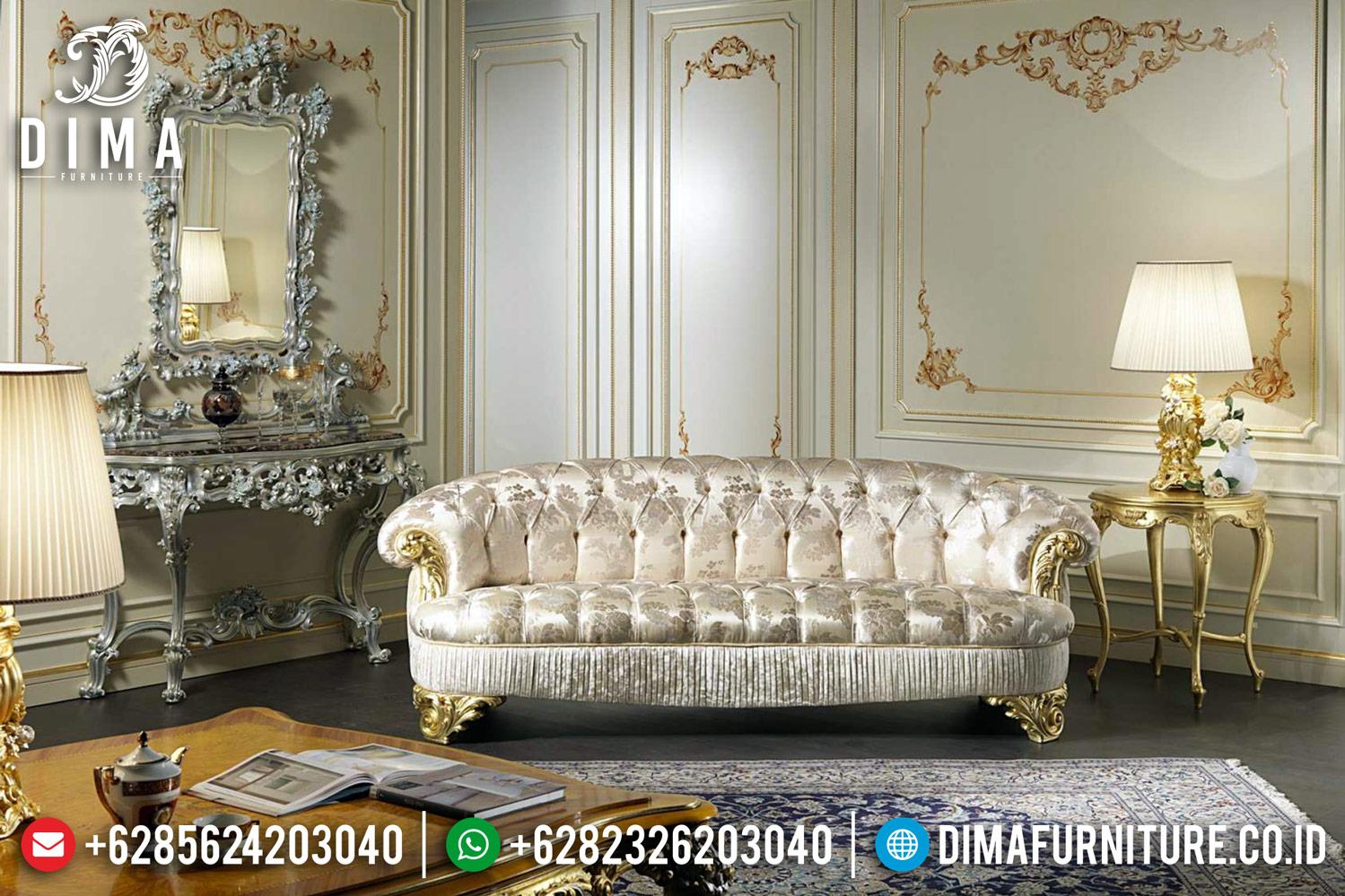 Desain Sofa Tamu Jepara Mewah 3 Dudukan Ukiran BT-0408