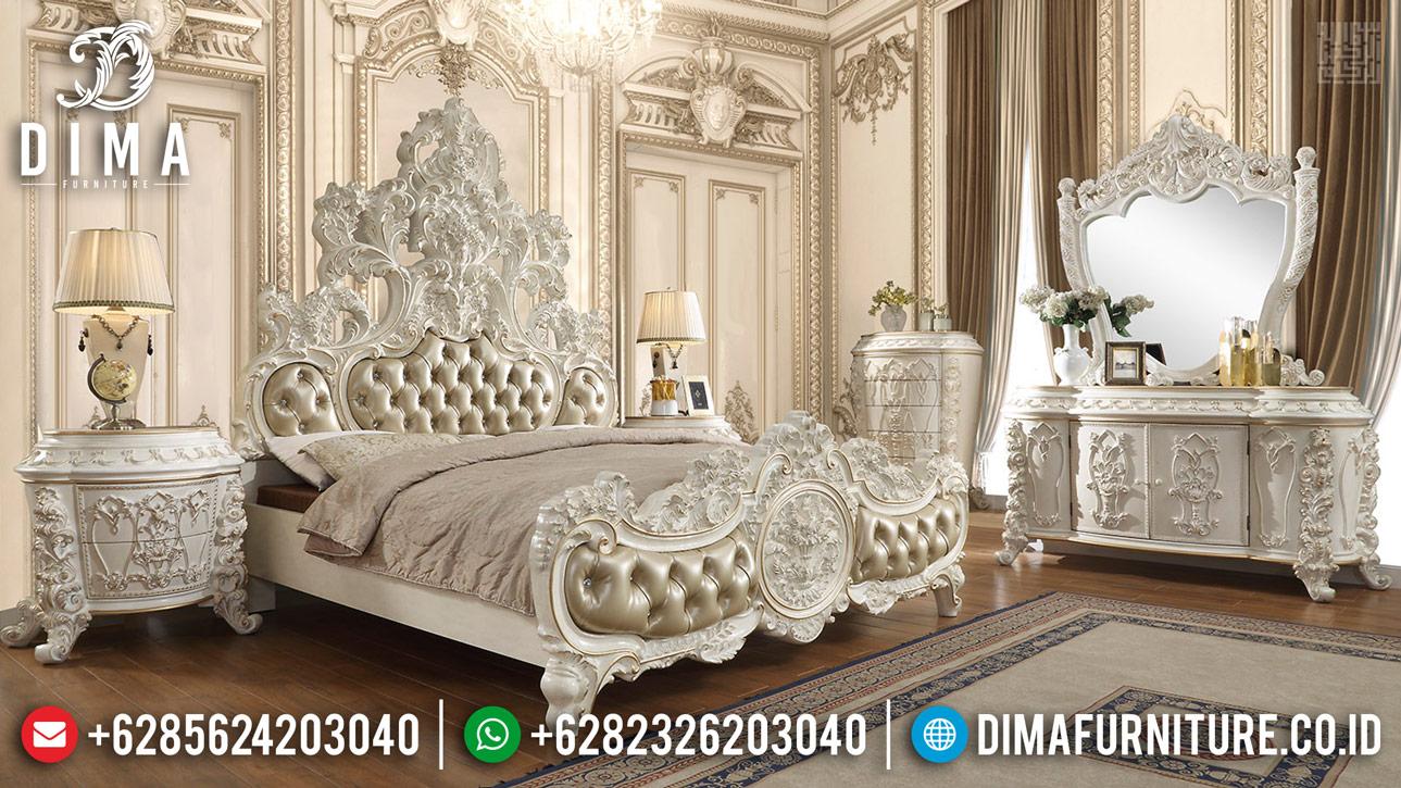 Desain Tempat Tidur Mewah Jepara Ukiran 3D BT-0406
