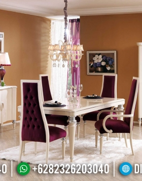 Furniture Jepara Set Meja Makan Mewah 4 Kursi Luxury Modern BT-0378