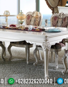 Furniture Jepara Terupdate Meja Makan Mewah Ukiran Klasik BT-0376
