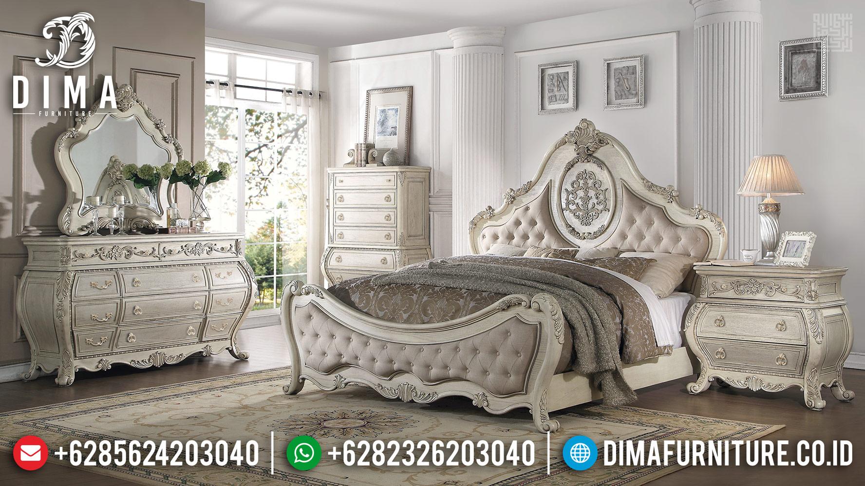 Harga Tempat Tidur Mewah New Design Luxury Classic Furniture Jepara BT-0390