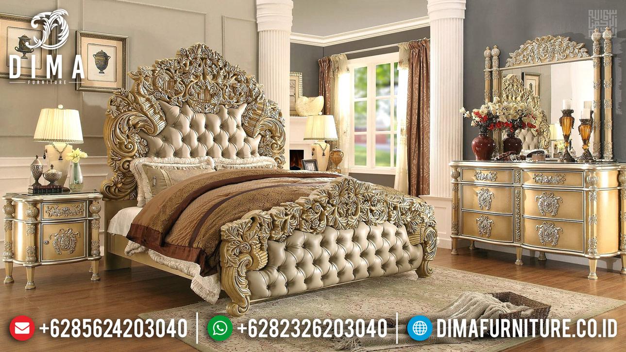 Harga Tempat Tidur Mewah Ukiran Relief Jepara Asli BT-0396