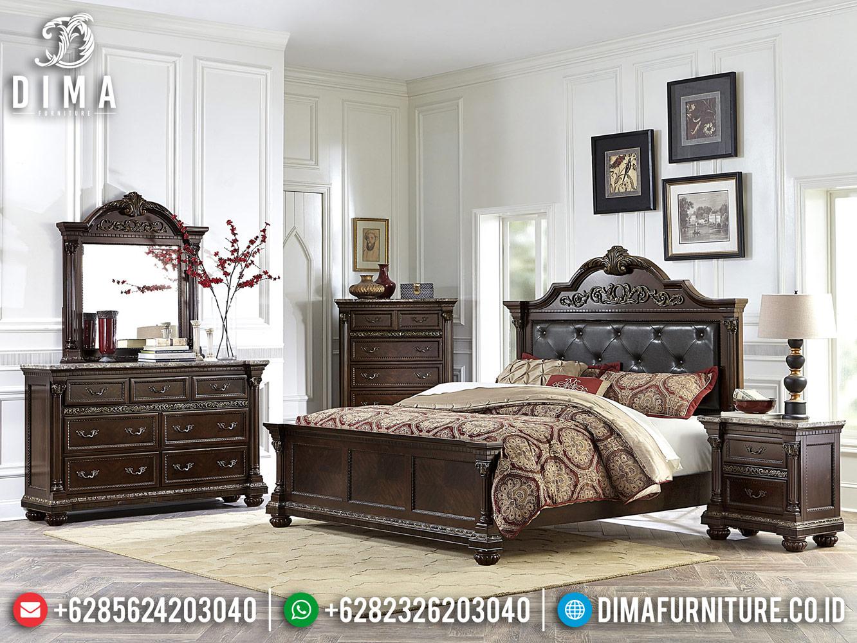 Jual Tempat Tidur Jati Jepara Natural Classic Luxury BT-0421
