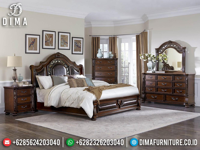 New Design Tempat Tidur Kayu Jati Minimalis Classic Natural Salak Brown BT-0423