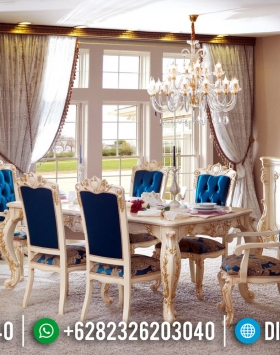New Meja Makan Mewah Elegant Luxury Deluxe Furniture Jepara BT-0377