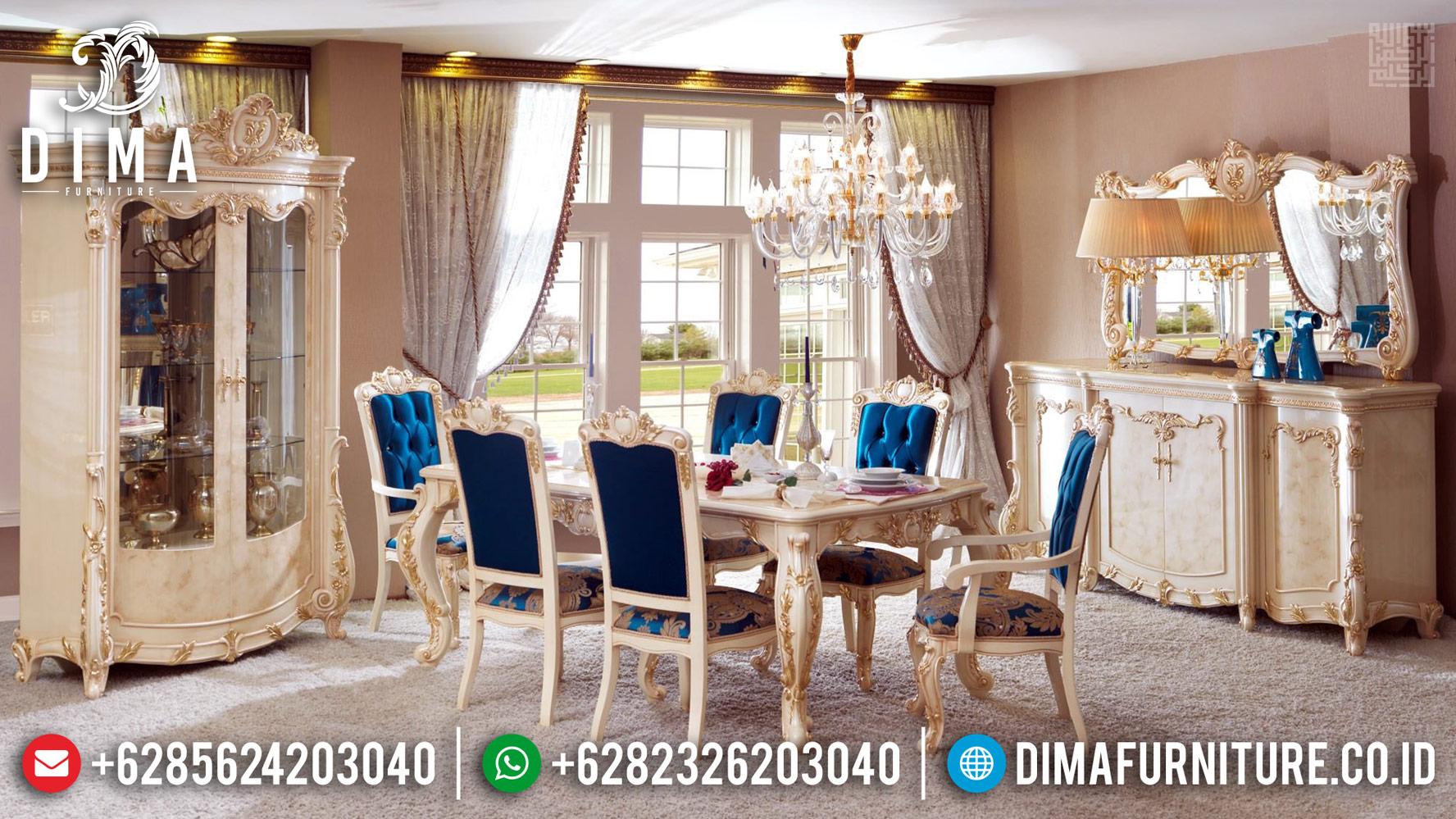 New Meja Makan Mewah Elegant Luxury Deluxe Furniture Jepara BT-0377