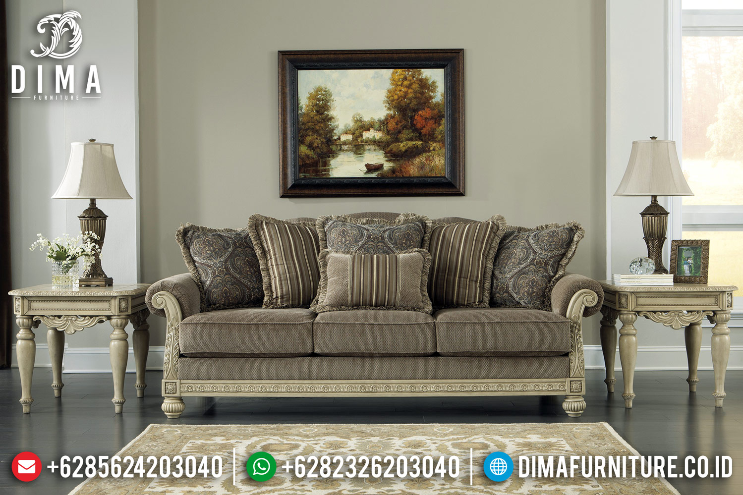 New Sofa Tamu Mewah White Ivory Duco Furniture Luxury Carving Jepara BT-0410