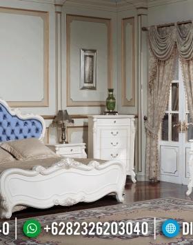 New Tempat Tidur Mewah Putih Duco Furniture Jepara Terbaru BT-0383