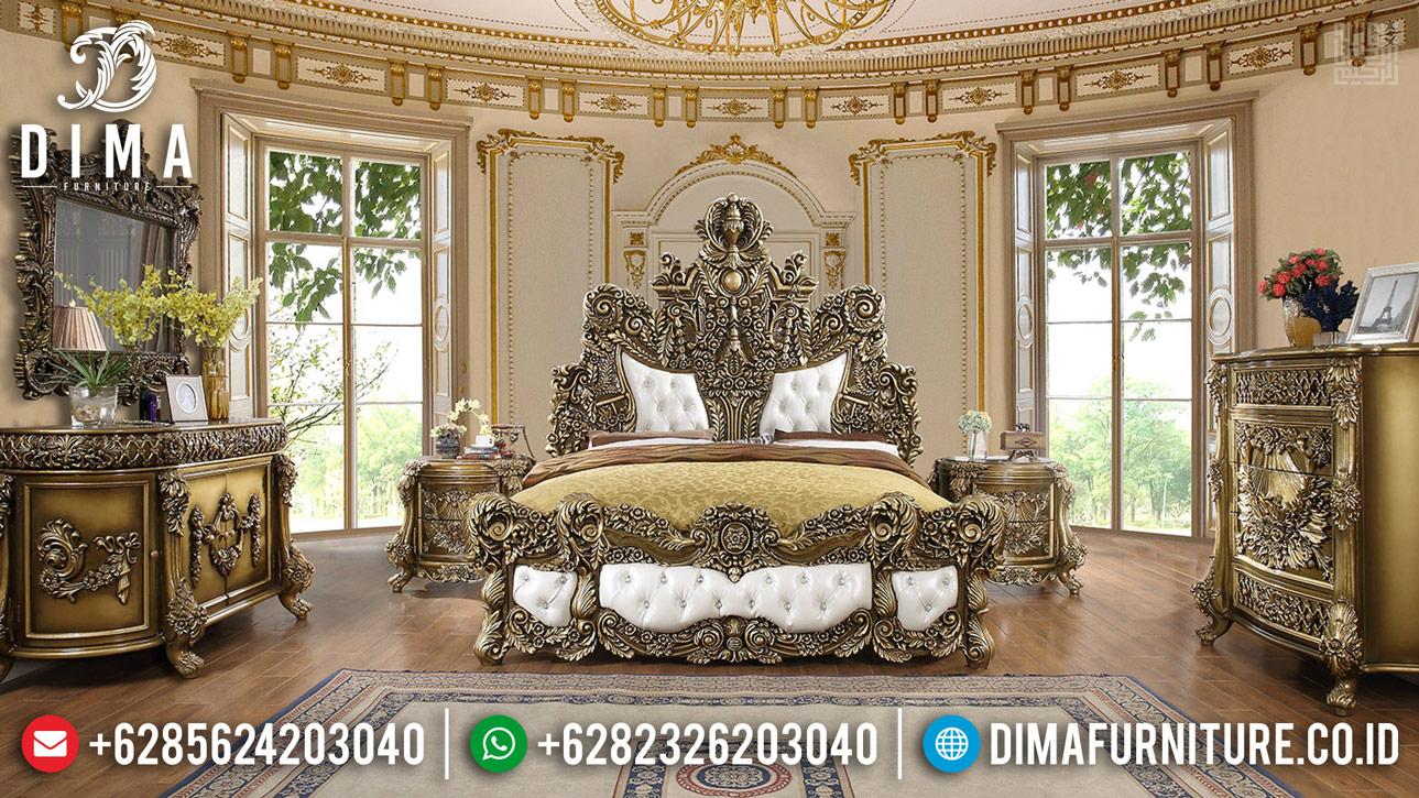 Superior Carving Tempat Tidur Mewah Classy Versace Furniture Jepara Terpercaya BT-0405
