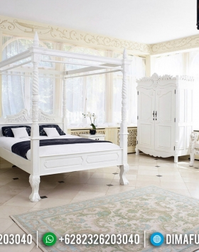 Desain Kamar Tidur Mewah Ranjang Canopy The Beds Of King Luxury Jepara BT-0542