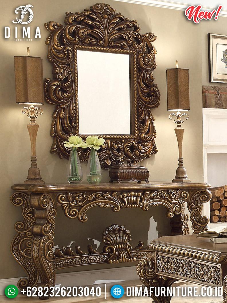 Desain Meja Konsul Ukir Mewah Furniture Jepara Terlengkap BT-0474