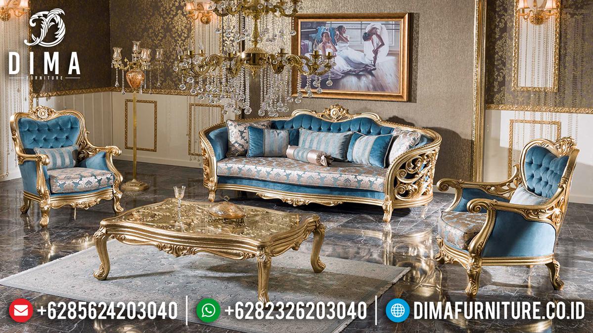 Desain Mewah Sofa Tamu Ukiran Jepara Golden Duco Luxury Glossy BT-0456