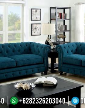 Desain Ruang Tamu Sofa Chesterfield Modern Furniture Jepara BT-0555