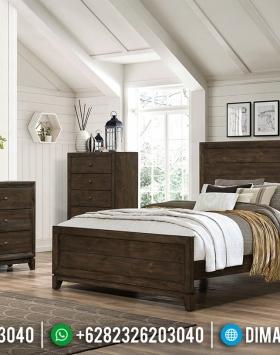 Desain Tempat Tidur Modern Minimalis Natural Jati Classic Jepara BT-0465
