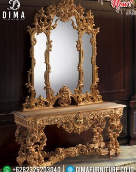 Design Interior Luxury Meja Konsol Jepara Royals Classic Carving BT-0473