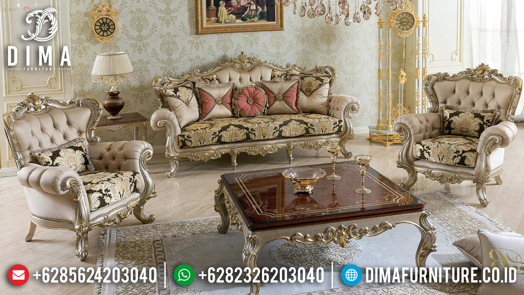 Design Living Room Classic Sofa Tamu Mewah Ukiran Jepara Terbaru BT-0517