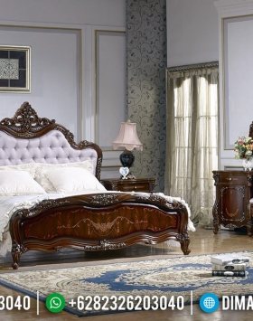 Furniture Jepara Kamar Set Mewah Jati Natural Ukiran Luxury Classic New Design BT-0562