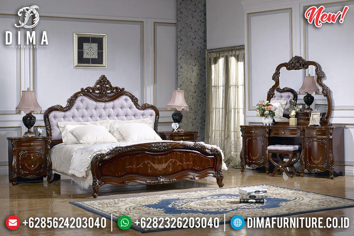 Furniture Jepara Kamar Set Mewah Jati Natural Ukiran Luxury Classic New Design BT-0562